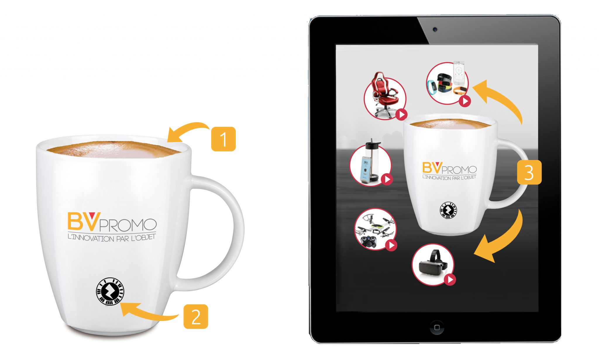 Augmented reality on promotional products